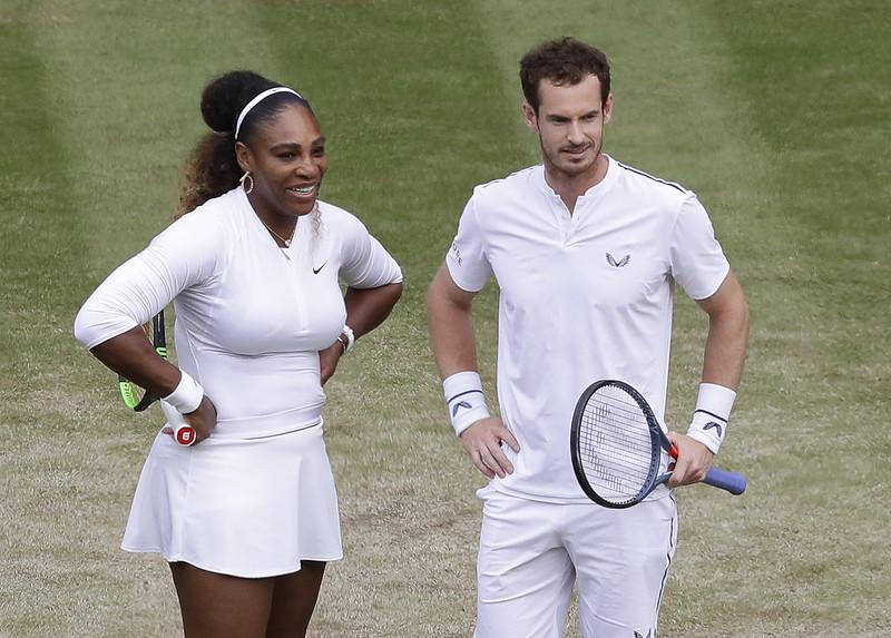 Serena Williams與Andy Murray在溫網合作愉快。(達志影像資料照)