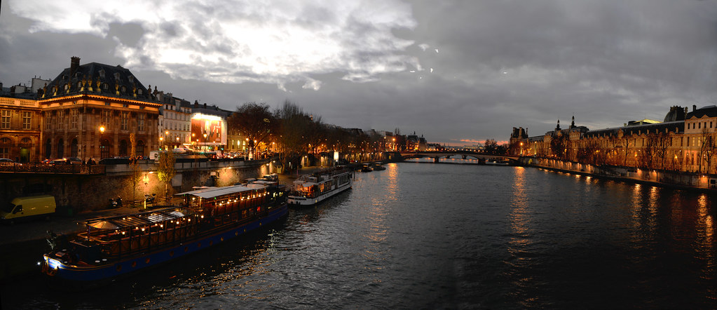 The Seine river at night
