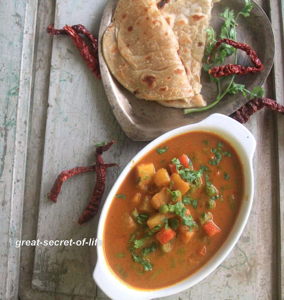 Veg Xacuti Masala recipe - Veg Shakuti recipe - Side dish recipe - Vegetable gravy recipe