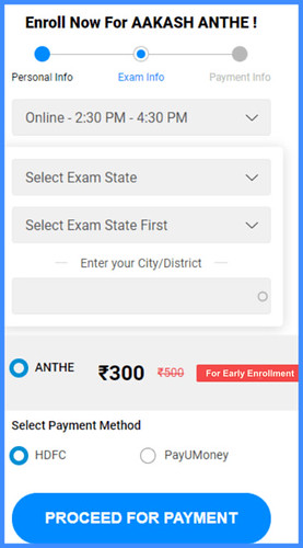 ANTHE Registration - Add Exam Information