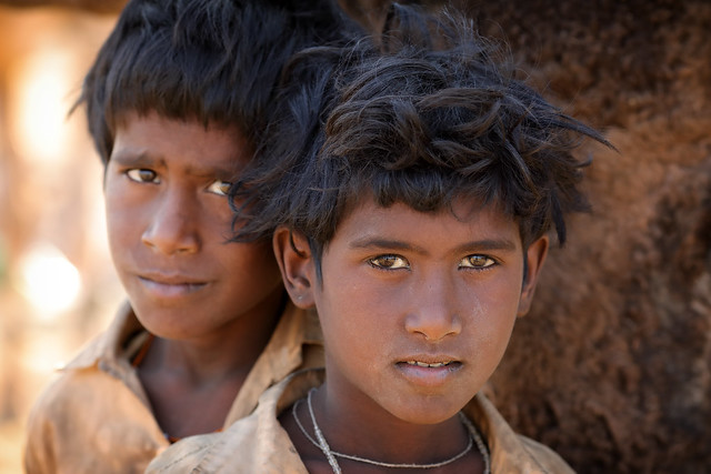 India, Gypsy boys in Pushkar