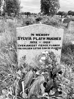 Sylvia Plath's grave at Heptonstall West Yorkshire