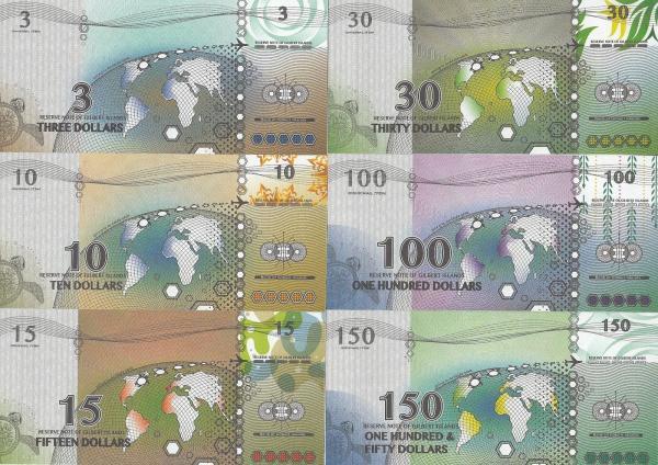 Gilbert Islands 3-150 Dollars 2016
