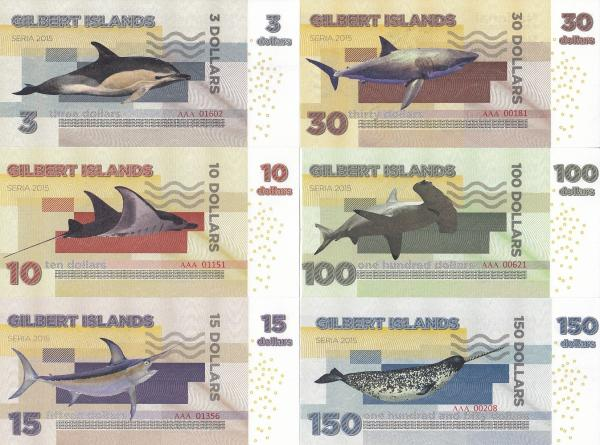 Gilbert Islands 3-150 Dollars 2015