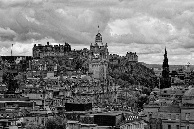 Edinburgh / Balmoral Clock /  View from Calton Hill