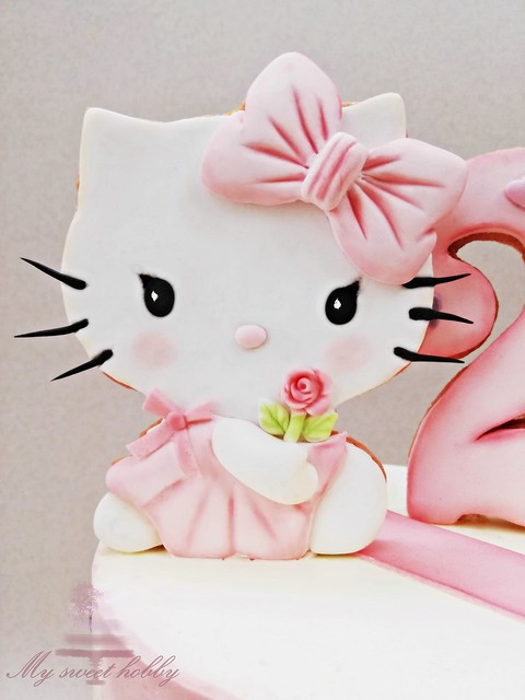 Kitty strawberry cookie
