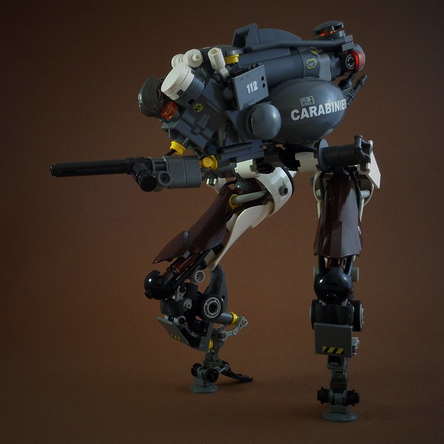 Get ready to rumble with this riot control mech. Or get ready to run