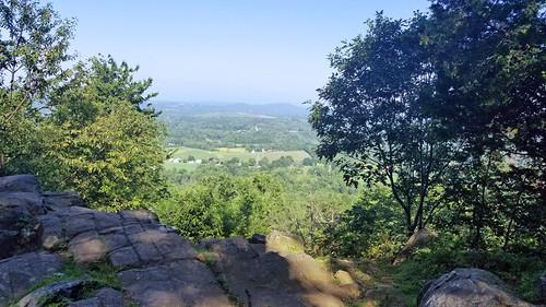 mountain top view hiking