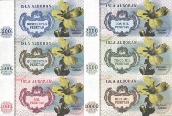 Isla Alboran 200-10.000 Pesetas 2014
