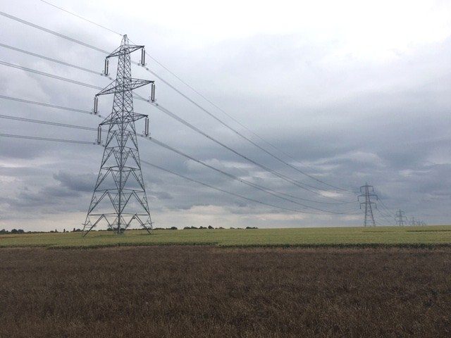 Pylons Sawbridgeworth to Bishops Stortford