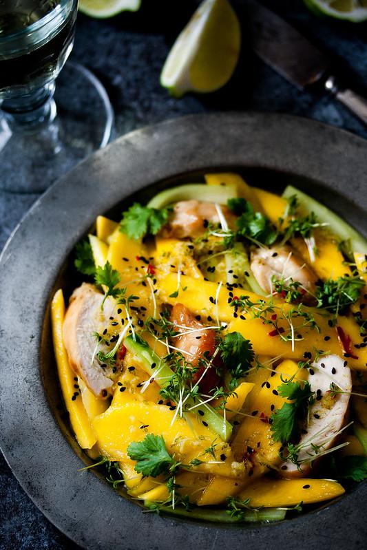 Nigel Slater's roast chicken, mango and ginger summer salad