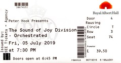 Peter Hook & Manchester Camerata: The Sound Of Joy Division Orchestrated @ Royal Albert Hall, London 5/7/2019
