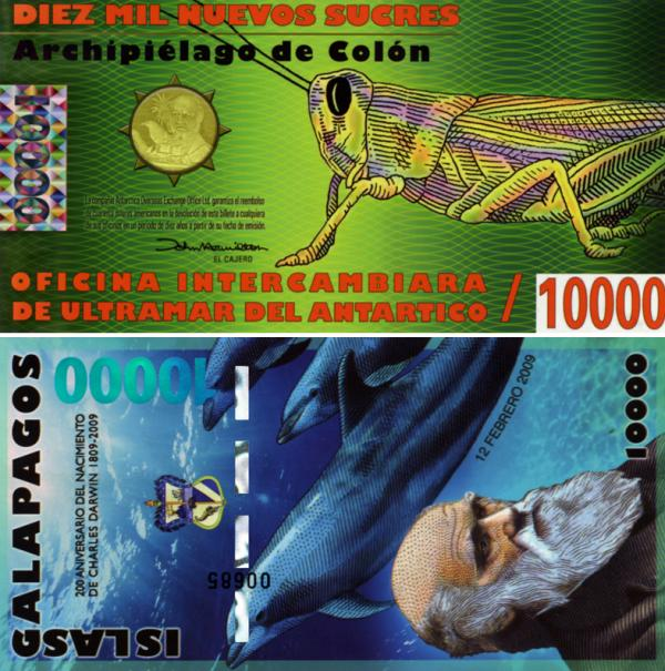 10000 Nuevos Sucres Galapágy 2011, polymer