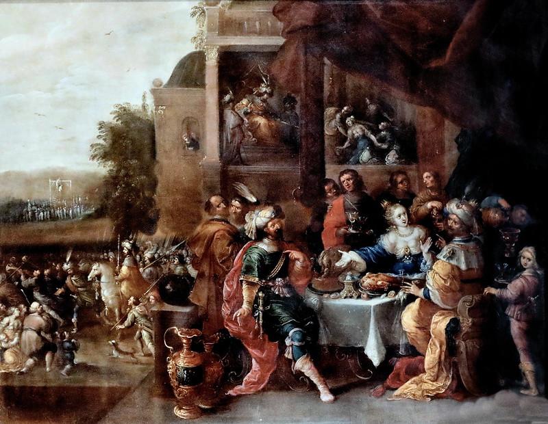 IMG_1136A Frans Francken II 1581-1642 Anvers Histoire d'Esther  History of Esther vers 1630  Brou Musée du Monastère Royal.
