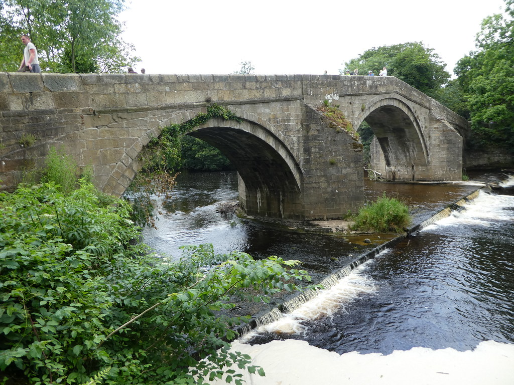 The old bridge over the River Wharfe, Ilkley