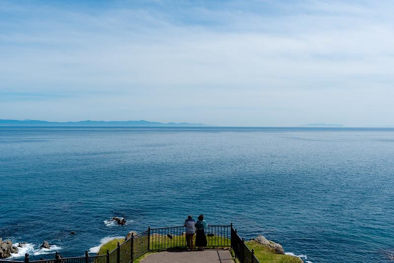 立待岬から見た津軽半島・下北半島