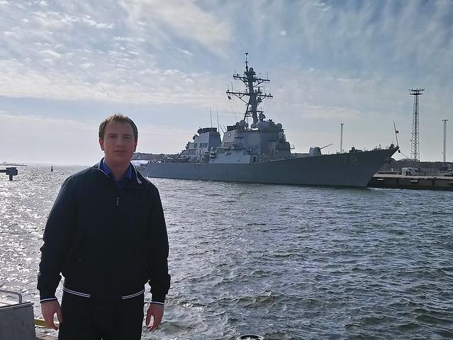 Don Bigileone and a navy destroyer USS Porter (DDG 78)