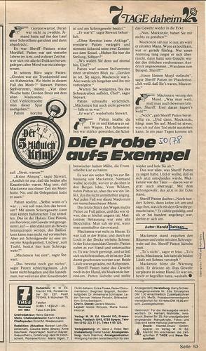 Harald Dahlsen   Die Probe aufs Exempel, in: 7 Tage, Speyer, Heft 50/1978