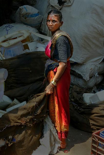 Dharavi slums, Mumbai, India