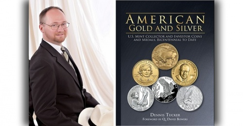 Dennis Tucker with American Gold and Silver book