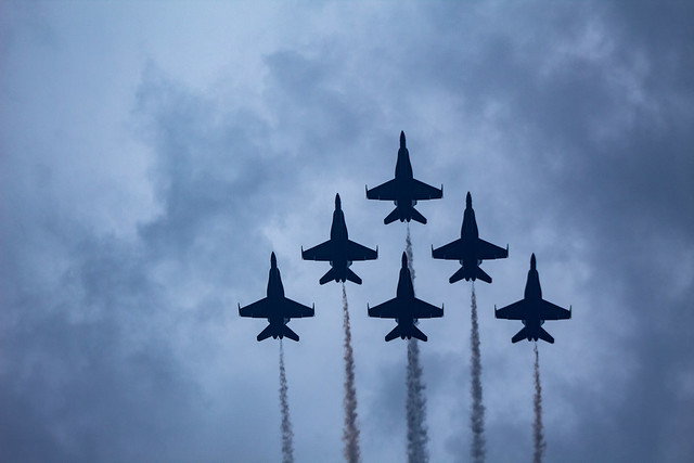 Blue Angles flyover Salute to America