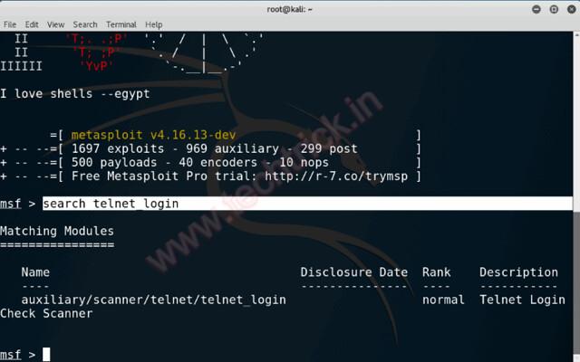 Hacking Brute Force Telnet Login (MetaSploit)
