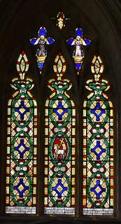 Lamb of God and decorative glass (Lucy Glover, 1839)