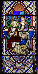 'But one thing is needful': Christ with Martha and Mary at Bethany (J & J King, 1866)