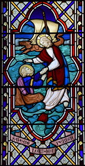 'Save me Lord or I perish': Christ rescues St Peter from his attempt to walk on water (J & J King, 1866)