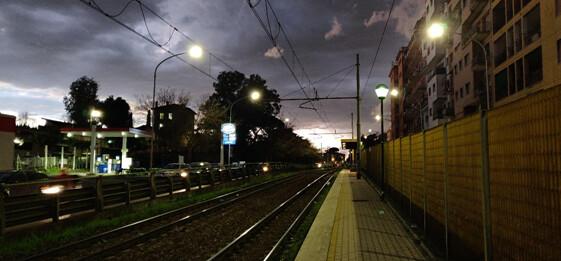 Vías Tren del Barrio de San Lorenzo, en Roma