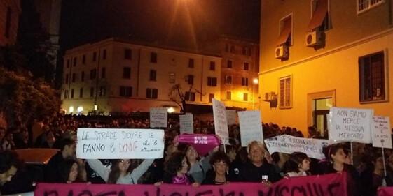 Manifestación en el Barrio de San Lorenzo, en Roma