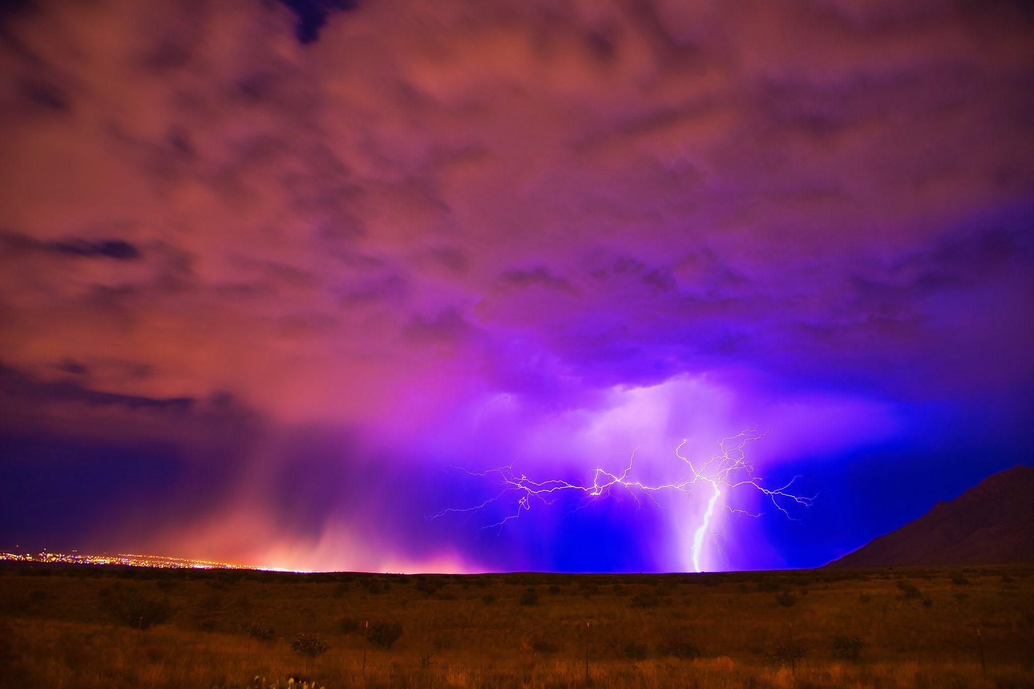 Monsoon Storm Over New Mexico