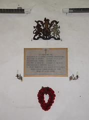 royal arms of George III and WWII memorial