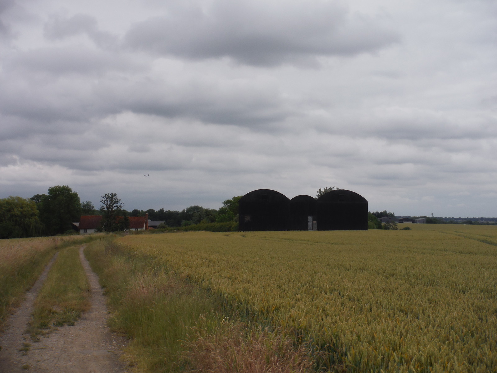 Big Fields means Big Barns, Moor Hall, Thorley SWC Walk 210 - Sawbridgeworth to Bishop's Stortfort (via Henry Moore Foundation)