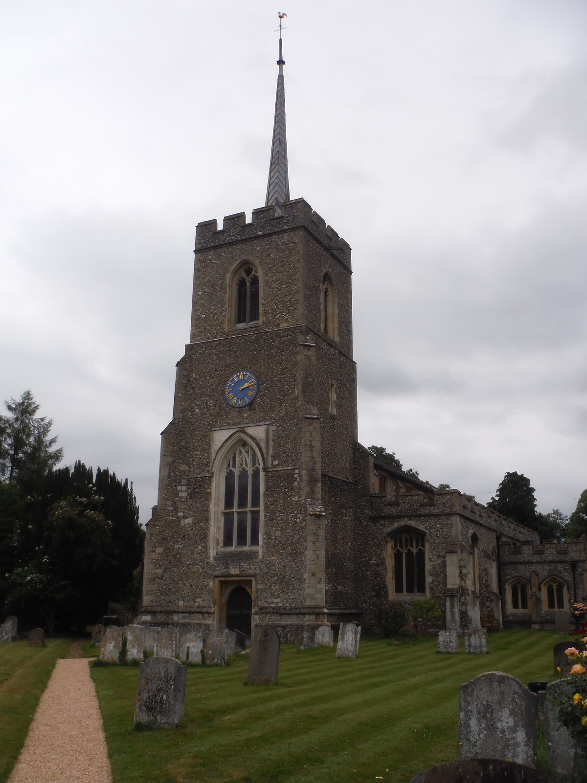 St. Andrew's Church, Much Hadham SWC Walk 210 - Sawbridgeworth to Bishop's Stortfort (via Henry Moore Foundation) [Much Hadham Church Loop]