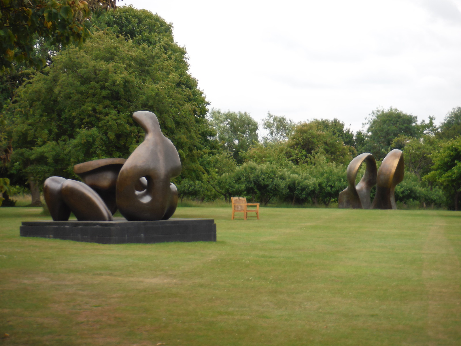 Some Henry Moore Sculptures, visible from the Public Footpath SWC Walk 210 - Sawbridgeworth to Bishop's Stortfort (via Henry Moore Foundation)
