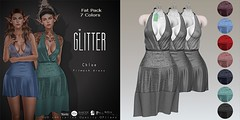 Glitter Chloe Fitmesh Dress Fat Pack AD