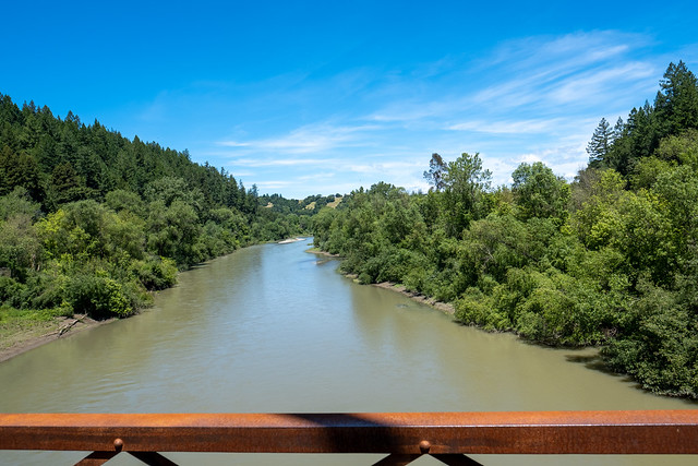 Crossing the russian river