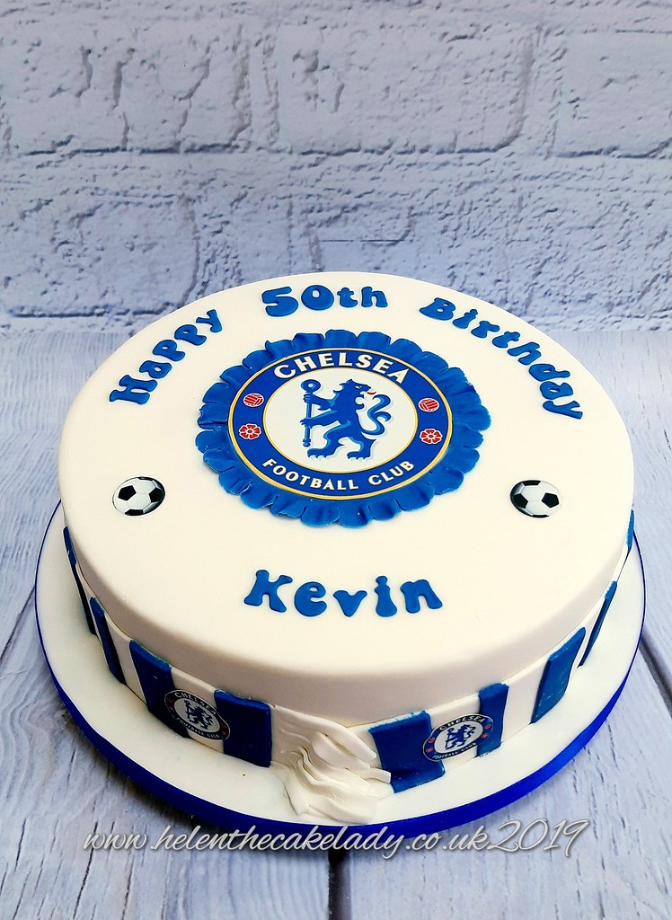 Admirable Chelsea Fc 50Th Birthday Cake A Photo On Flickriver Personalised Birthday Cards Veneteletsinfo