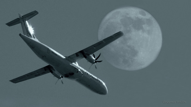 one of these nights, we will fly to the moon for summer holiday.
