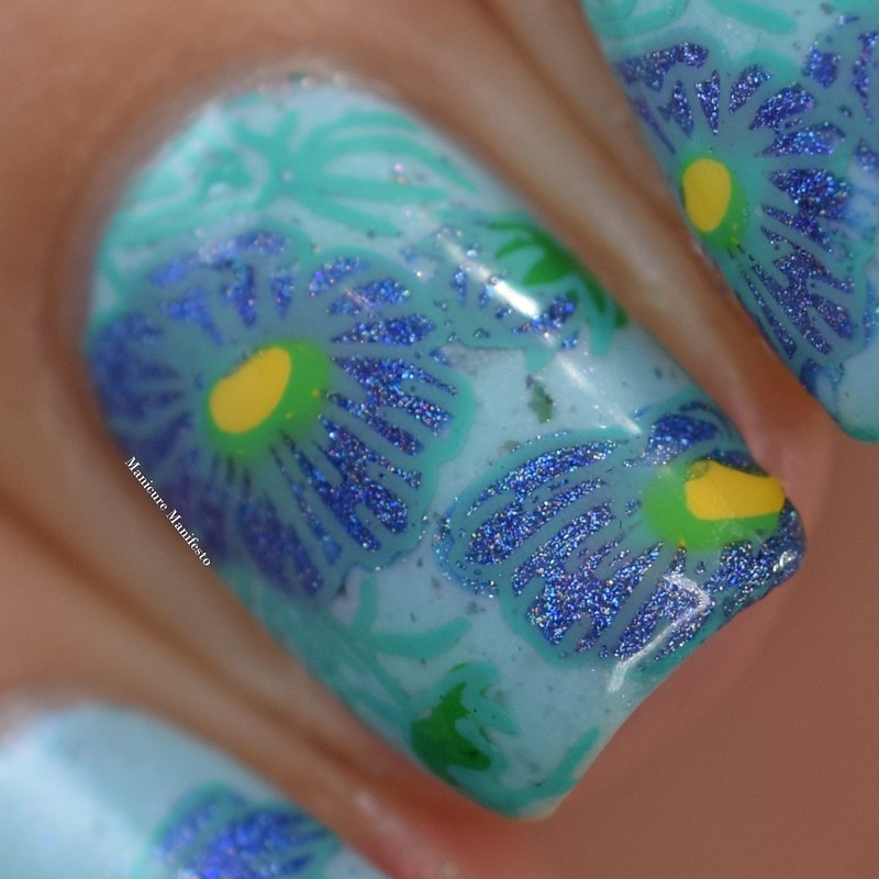 Floral Nail Stamping
