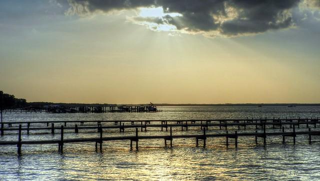 Bay Harbor at Sunset - Gulf Shores