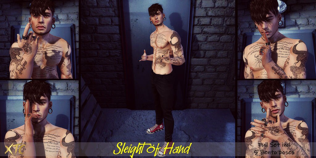 .Sleight of hand. NEW EVENT La vie en Pose
