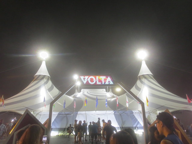 Cirque du Soleil tent for Volta show