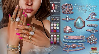 (Yummy) Ocean Waves Ring Set for Collabor88