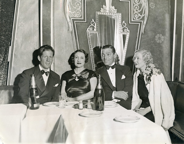 Clark Gable sees New York Nightlife