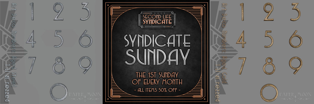 *pm* Art Deco Numbers Syndicate Sunday