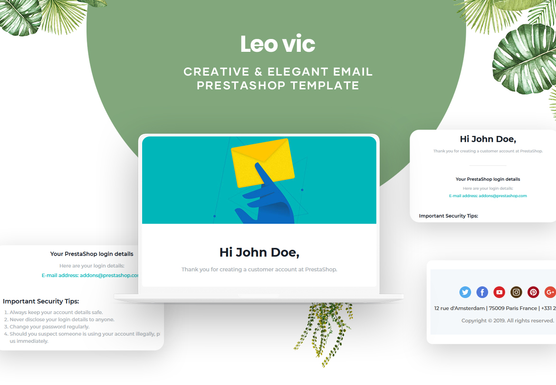 Leo Vic - Creative & Elegant PrestaShop Email Template