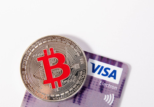 Silver Bitcoin with Visa credit card | by wuestenigel