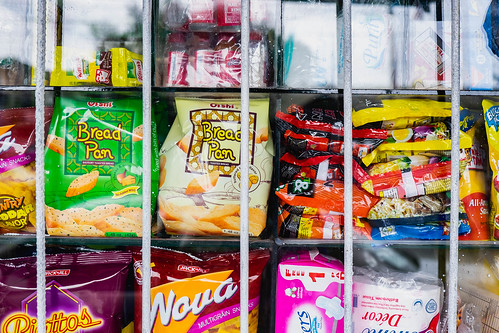 Crackers and small snacks sold at a local convenient store | by wuestenigel